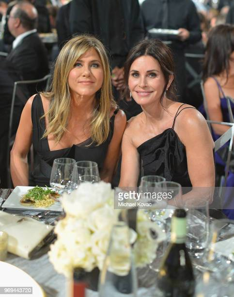 Jennifer Aniston and Courtney Cox attend the American Film Institute's 46th Life Achievement Award Gala Tribute to George Clooney at Dolby Theatre on...
