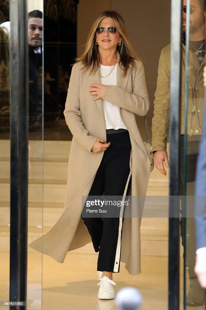 Celebrity Sightings In Paris -  April 12, 2017 : News Photo