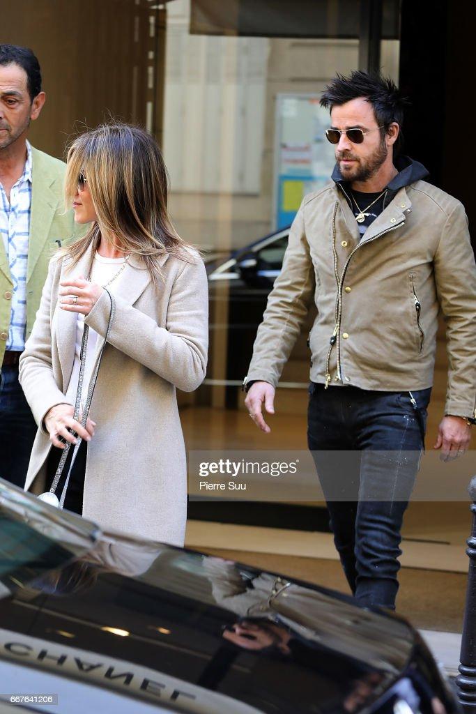 Celebrity Sightings In Paris -  April 12, 2017 : News Photo