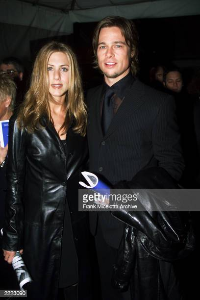Jennifer Aniston and Husband Brad Pitt at the 42nd Grammy Awards MusiCares Dinner held in Los Angeles CA on February 23 2000
