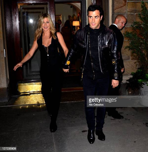 Jennifer Aniston and Justin Theroux are seen on September 26 2011 in New York City