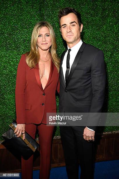 Jennifer Aniston and Justin Theroux attend the 20th annual Critics' Choice Movie Awards at the Hollywood Palladium on January 15 2015 in Los Angeles...