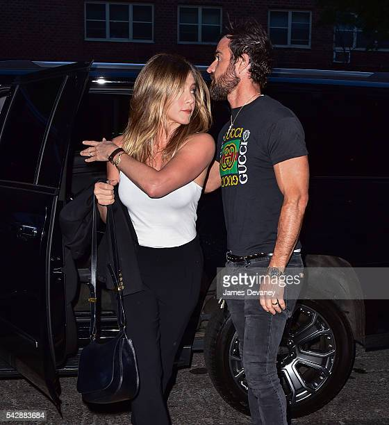 Jennifer Aniston and Justin Theroux seen on the streets of Manhattan on June 24 2016 in New York City