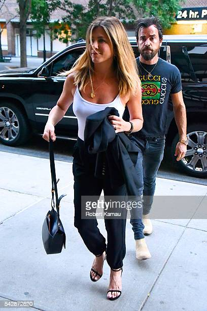 Jennifer Aniston and Justin Theroux seen out in Tribeca on June 24 2016 in New York City
