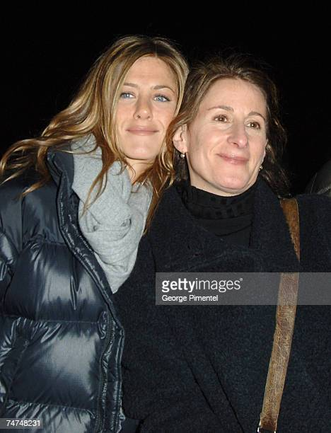 Jennifer Aniston and Nicole Holofcener director at the Eccles Theatre in Park City Utah