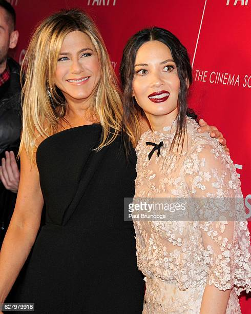 Jennifer Aniston and Olivia Munn attend the Paramount Pictures with Paramount Pictures with The Cinema Society Svedka Host a Screening of 'Office...