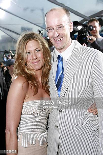 Jennifer Aniston and Peyton Reed director during The Break Up Los Angeles Premiere Red Carpet at Mann Village Theater in Westwood California United...