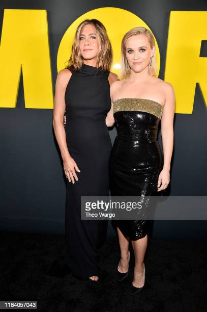 Jennifer Aniston and Reese Witherspoon attend the Apple TV's The Morning Show World Premiere at David Geffen Hall on October 28 2019 in New York City
