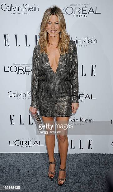Jennifer Aniston arrives as ELLE Honors Hollywood+s Most Esteemed Women in the 18th Annual Women in Hollywood Tribute; at The Four Seasons Beverly...