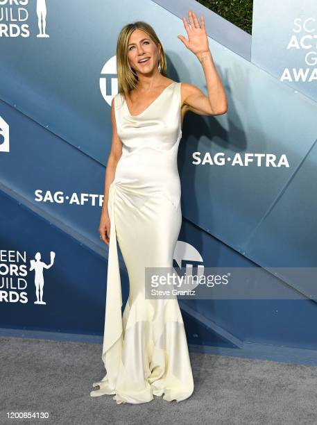 Jennifer Aniston arrives at the 26th Annual Screen ActorsGuild Awards at The Shrine Auditorium on January 19, 2020 in Los Angeles, California.