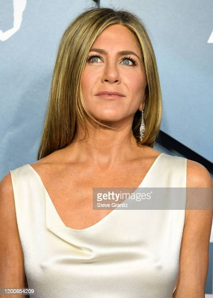 Jennifer Aniston arrives at the 26th Annual Screen Actors Guild Awards at The Shrine Auditorium on January 19, 2020 in Los Angeles, California.