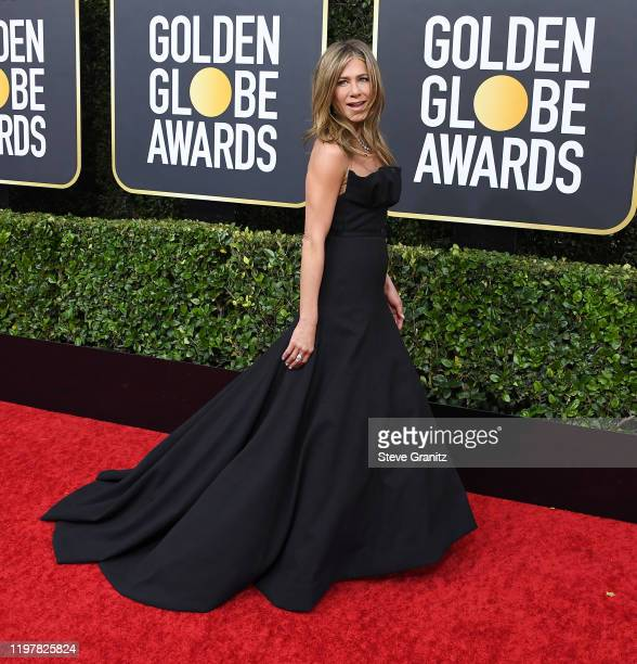 Jennifer Aniston arrives at the 77th Annual Golden Globe Awards attends the 77th Annual Golden Globe Awards at The Beverly Hilton Hotel on January...