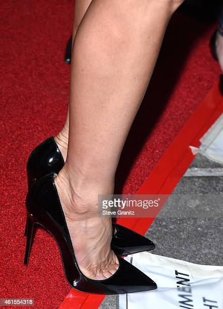 Jennifer Aniston arrives at the Cake Los Angeles Premiere on January 14 2015 in Hollywood California