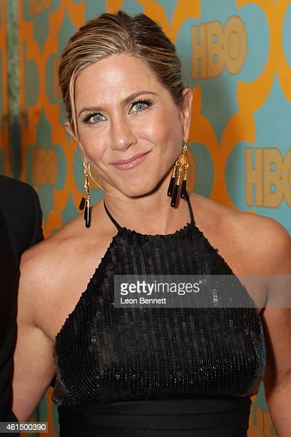 Jennifer Aniston arrives at the HBO'S Post Golden Globe Party at The Beverly Hilton Hotel on January 11 2015 in Beverly Hills California