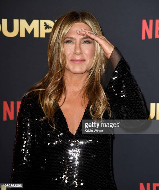 Jennifer Aniston arrives at the premiere of Netflix's 'Dumplin'' at the Chinese Theater on December 6 2018 in Los Angeles California