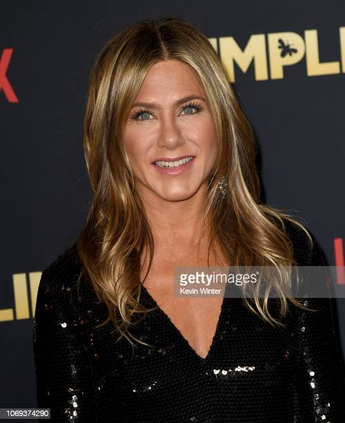 Jennifer Aniston arrives at the premiere of Netflix's Dumplin' at the Chinese Theater on December 6 2018 in Los Angeles California