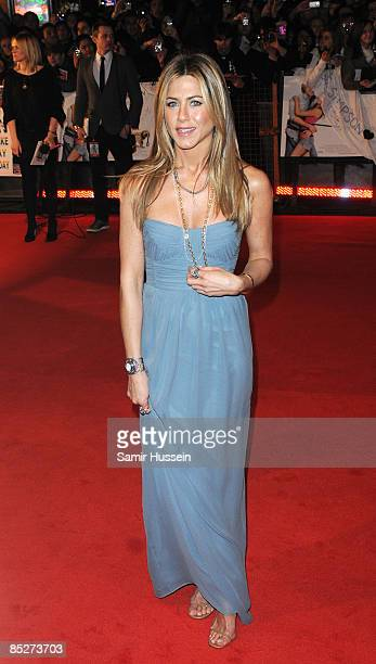 Jennifer Aniston arrives at the UK premiere of 'Marley And Me' at the Vue Leicester Square on March 2 2009 in London England