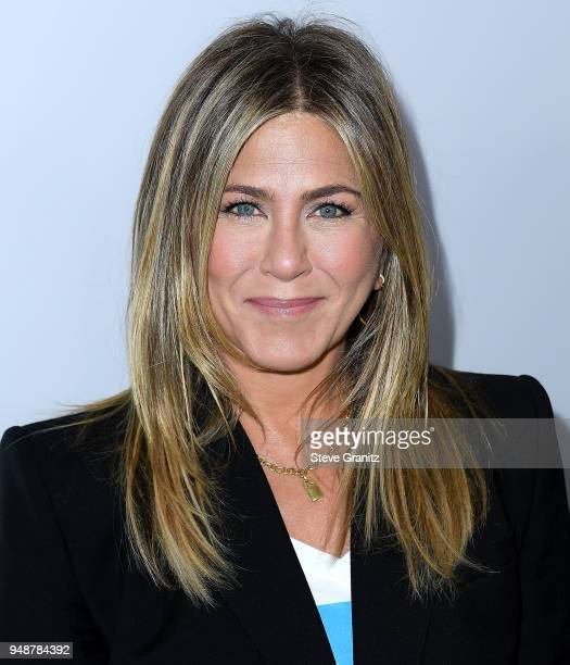 Jennifer Aniston arrives at the WE Day California To Celebrate Young People Changing The World at The Forum on April 19 2018 in Inglewood California