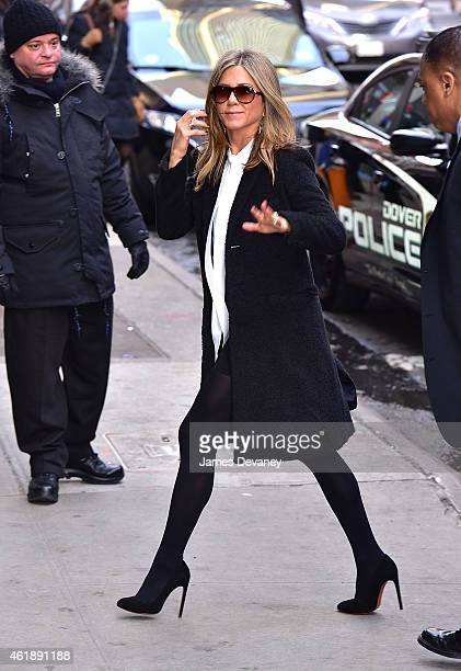 Jennifer Aniston arrives to ABC's 'Good Morning America' on January 21 2015 in New York City