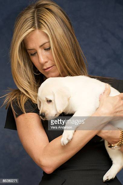 Jennifer Aniston at the Marley Me press conference at the Casa Del Mar Hotel on December 5 2008 in Santa Monica California
