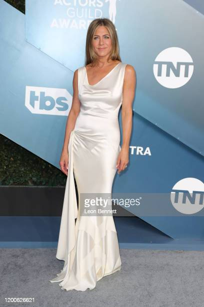 Jennifer Aniston attends 26th Annual Screen Actors Guild Awards at The Shrine Auditorium on January 19 2020 in Los Angeles California