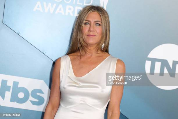 Jennifer Aniston attends 26th Annual Screen Actors Guild Awards at The Shrine Auditorium on January 19, 2020 in Los Angeles, California.