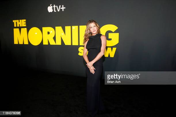 Jennifer Aniston attends Apple's global premiere of The Morning Show at Josie Robertson Plaza and David Geffen Hall Lincoln Center for the Performing...