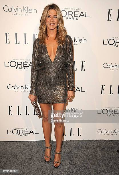 Jennifer Aniston attends ELLE's 18th Annual Women In Hollywood Event on October 17, 2011 in Beverly Hills, California.