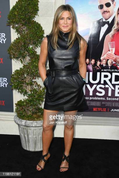 "Jennifer Aniston attends LA Premiere Of Netflix's ""Murder Mystery"" at Regency Village Theatre on June 10, 2019 in Westwood, California."