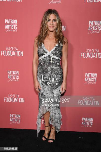 Jennifer Aniston attends SAGAFTRA Foundation's 4th Annual Patron of the Artists Awards at Wallis Annenberg Center for the Performing Arts on November...