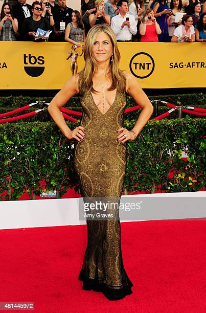 Jennifer Aniston attends the 21st Annual Screen Actors Guild Awards at the Shrine Auditorium on January 25, 2015 in Los Angeles, California.