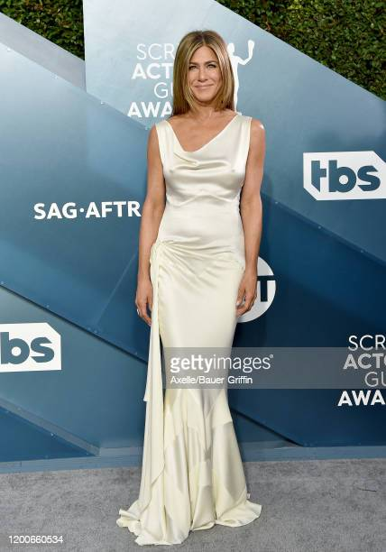Jennifer Aniston attends the 26th Annual Screen Actors Guild Awards at The Shrine Auditorium on January 19 2020 in Los Angeles California