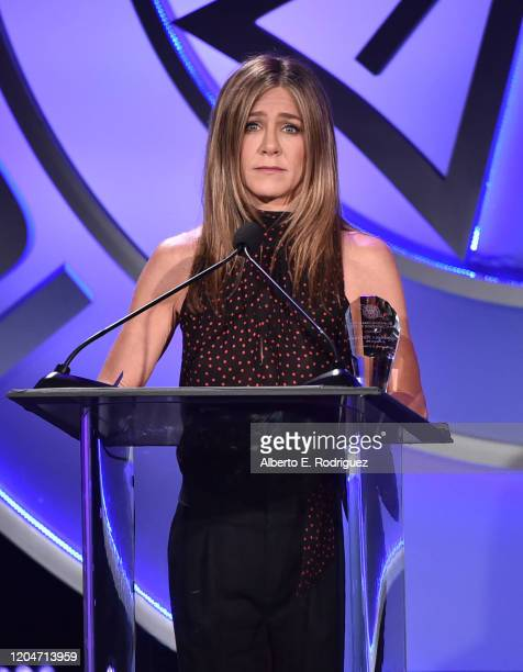 Jennifer Aniston attends the 57th Annual ICG Publicists Awards at The Beverly Hilton Hotel on February 07 2020 in Beverly Hills California