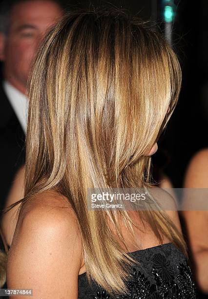 Jennifer Aniston attends the 64th Annual Directors Guild Of America Awards at the Grand Ballroom at Hollywood Highland Center on January 28 2012 in...