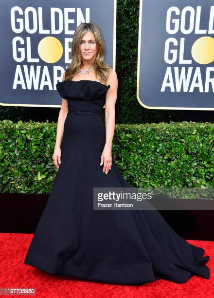 Jennifer Aniston attends the 77th Annual Golden Globe Awards at The Beverly Hilton Hotel on January 05, 2020 in Beverly Hills, California.