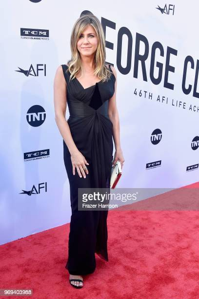 Jennifer Aniston attends the American Film Institute's 46th Life Achievement Award Gala Tribute to George Clooney at Dolby Theatre on June 7, 2018 in...