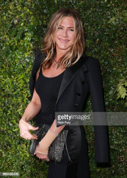 Jennifer Aniston attends the CHANEL Dinner Celebrating Our Majestic Oceans A Benefit For NRDC on June 2 2018 in Malibu California