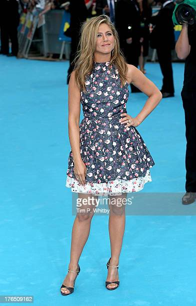 Jennifer Aniston attends the European premiere of 'We're The Millers' at Odeon West End on August 14 2013 in London England