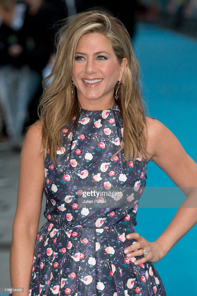 Jennifer Aniston attends the European premiere of 'We're The Millers' at Odeon West End on August 14, 2013 in London, England.