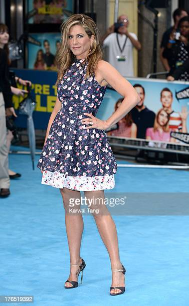 Jennifer Aniston attends the European premiere of 'We're The Millers' at the Odeon West End on August 14 2013 in London England