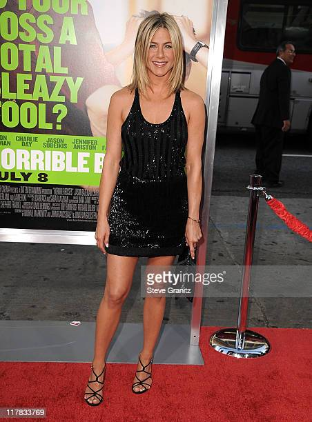 Jennifer Aniston attends the Horrible Bosses Los Angeles Premiere at Grauman's Chinese Theatre on June 30 2011 in Hollywood California