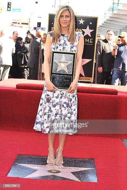 Jennifer Aniston attends the Jennifer Aniston Hollywood Walk Of Fame Induction Ceremony on February 22, 2012 in Hollywood, California.
