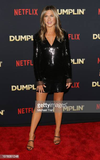Jennifer Aniston attends the Los Angeles premiere of Netflix's 'Dumplin'' held at TCL Chinese Theatre on December 06 2018 in Hollywood California