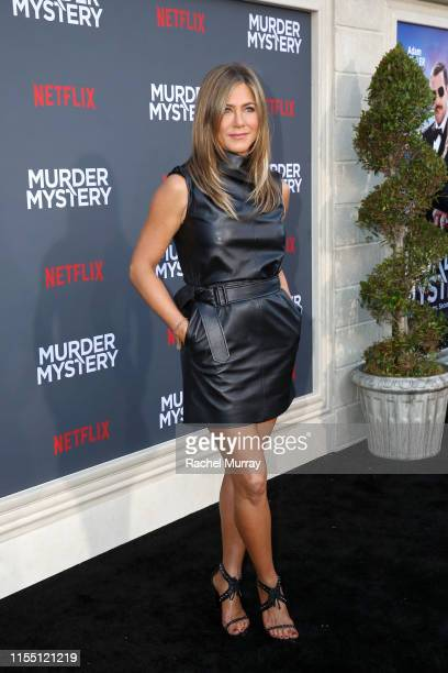 "Jennifer Aniston attends the Netflix World Premiere Of ""Murder Mystery"" at Village Theatre Westwood on June 10, 2019 in Los Angeles, California."