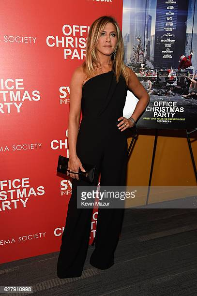 Jennifer Aniston attends the Paramount Pictures with The Cinema Society Svedka host a screening of 'Office Christmas Party' at Landmark Sunshine...