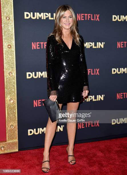 Jennifer Aniston attends the premiere of Netflix's 'Dumplin' at TCL Chinese 6 Theatres on December 6 2018 in Hollywood California