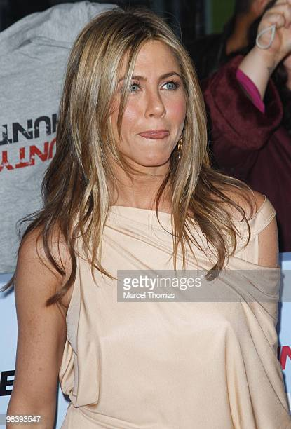 Jennifer Aniston attends the premiere of 'The Bounty Hunter' at the Ziegfeld Theater on March 16 2010 in New York New York