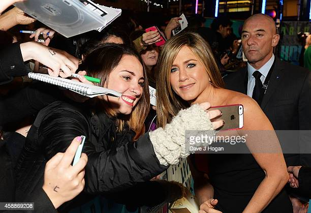 Jennifer Aniston attends the UK Premiere of Horrible Bosses 2 at the Odeon West End on November 12 2014 in London England