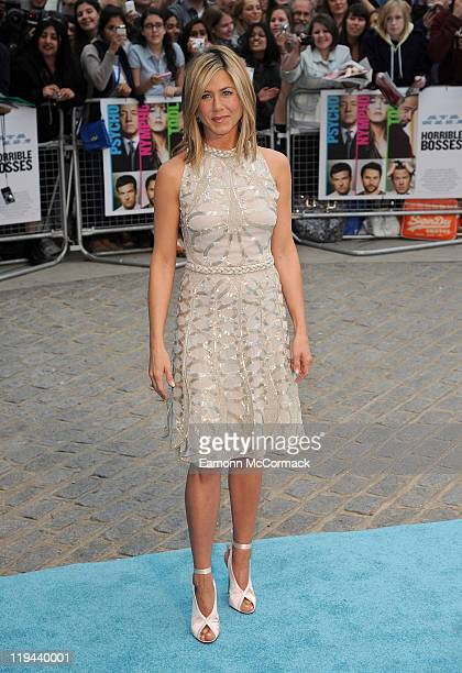 Jennifer Aniston attends the UK premiere of 'Horrible Bosses' at BFI Southbank on July 20 2011 in London England