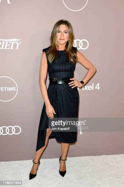 Jennifer Aniston attends Variety's 2019 Power of Women: Los Angeles presented by Lifetime at the Beverly Wilshire Four Seasons Hotel on October 11,...